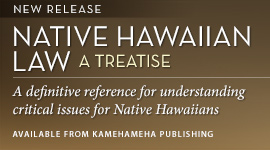 New release – Native Hawaiian Law: A Treatise