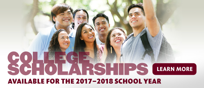 Apply from now until February 17, 2017 for college scholarships from Kamehameha Schools.